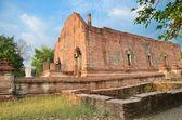 扫管笏 maheyong、 古庙宇和纪念碑,大城,泰国 — 图库照片