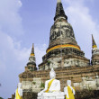 Stock Photo: Wat Yai Chai Mongkhon of AyuthayProvince Thailand