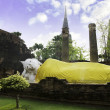 Stock Photo: Reclining Buddhimage, Wat Yai Chaimongkol in Ayutthaya.