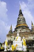 Wat Yai Chai Mongkhon of Ayuthaya Province Thailand — Stock Photo