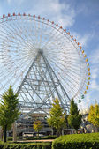 KYOTO- OCT 23: Ferris wheel in Tempozan Harbor Village - Osaka, — Foto de Stock