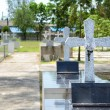Crosses at chantaburi cemetery — Stock Photo #25710639