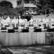 Cemetery Image with Crosses — Stock Photo #25710741