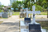 Crosses at chantaburi cemetery — Stock Photo