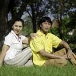 Beautiful senior couple in park — Stock Photo #25842185