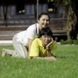 Stock Photo: Beautiful senior couple in park