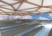 3d-renderade i matsalen — Stockfoto