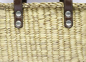 Wicker basket close-up — Stock Photo