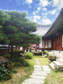 Korean-styled detailed at Beomeosa temple, Busan — Stock Photo