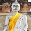 Ancient Buddhstatues at Wat Yai Chai Mongkol in Ayutthaya — Stock Photo #26545989