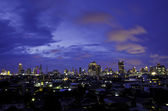 Aerial view of bangkok city skyline at night. Thailand. — Stock Photo