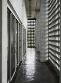 Bare concrete corridor — Stock Photo