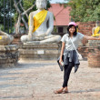 Stock Photo: Asiwomand buddhat Wat Yai Chai Mongkol Temple. Ayutthaya