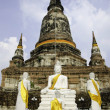 Stock Photo: Wat Yai Chai Mongkhon temple of Ayuthaya, Thailand