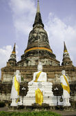 Wat Yai Chai Mongkhon temple of Ayuthaya, Thailand — Stock Photo