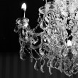 Close up on the crystal of chandelier — Stock Photo