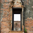 Ruin opening windows at Maheyong ancient temple, Ayutthaya, Thai — Stock Photo