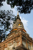 Big pagoda in mongkol temple at ayutthaya, Thailand — Stock Photo