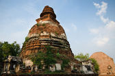 Big Pagoda at Wat Maheyong, Ancient temple in Ayutthaya, Thailan — Stock Photo
