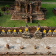Stock Photo: Top view of Buddhstatue at Old Temple Wat Yai Chai Mongkhon of
