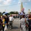 BANGKOK - NOVEMBER 11 : The Democrats at Democracy monument — Stock Photo