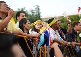 BANGKOK - NOVEMBER 11, 2013 : Anti-government protesters — Stock Photo