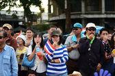 BANGKOK - NOVEMBER 11 : The Democrats at Democracy monument — Stock Photo