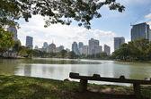 Lumpini park, central park en bangkok, tailandia. — Foto de Stock