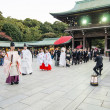 HARAJUKU,TOKYO - NOV 20: Celebration of a typical wedding ceremony — Stock Photo
