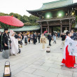 TOKYO,JAPAN-NOV 20 :A Japanese wedding ceremony at Meiji Jingu Shrine — Stock Photo