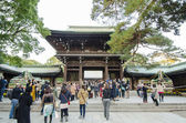 HARAJUKU,TOKYO - NOV 20: People visiting Meiji Jingu Shrine — Stock Photo