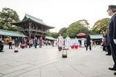 TOKYO,JAPAN-NOV 20 :A Japanese wedding ceremony at Shrine — Stock Photo