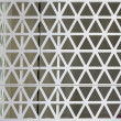 Hexagons steel facade — Stock Photo
