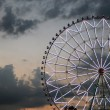 Ferris wheel against the dark sky — Stock Photo