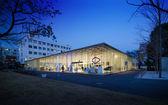 Twilight of Modern Workshop Building Exterior — Stockfoto