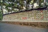 Sudy saké přispěl k svatyni meiji jingu v tokiu, japa — Stock fotografie