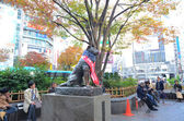TOKYO - November 28: Hachikoas at Tokyoa is Shibuya railroad station — Stock Photo