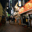 TOKYO,JAPAN - NOVEMBER 23: Narrow pedestrian street known as Yakatori alley(Omoide Yokocho) — Stock Photo