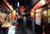 TOKYO,JAPAN - NOVEMBER 23: Narrow pedestrian street known as Yakatori alley(Omoide Yokocho) — Stock Photo