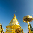 Golden pagoda of Wat Phra Tard Doi Su Thep, Chaing mai, Thailand — Stock Photo