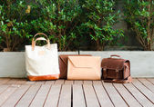 Fashion Leather Bags Collection — Stock Photo