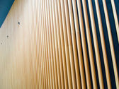Wooden fin facade  — Stock Photo