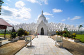 White pagoda of Hsinbyume paya temple, Mingun, Mandalay - Myanma — Stock Photo