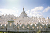 White pagoda of Hsinbyume paya temple, Mingun, Mandalay — Stock Photo