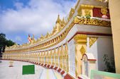U min Thonze pagoda, Sagaing, Myanmar  — Stock Photo