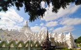 White pagoda of Hsinbyume (Myatheindan) paya temple — Stock Photo