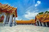 Templo de mármol en bangkok, tailandia — Foto de Stock