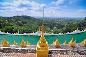 Landscape View from Mandalay Hill, Myanmar — Stock fotografie