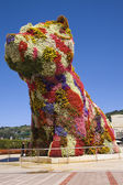 Giant floral dog 'Puppy', by Jeff Koons, at the entrance of the — Stock Photo