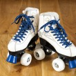 Two white roller skates — Foto de stock #31002889